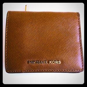 Michael Kors Saffiano Leather Caramel Color Wallet
